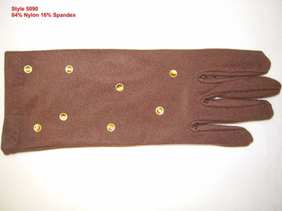 Lady mocrifiber glove with boucles